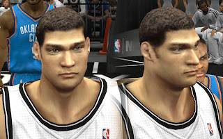 NBA 2K13 Brook Lopez Cyber Face (New Hair) Mod