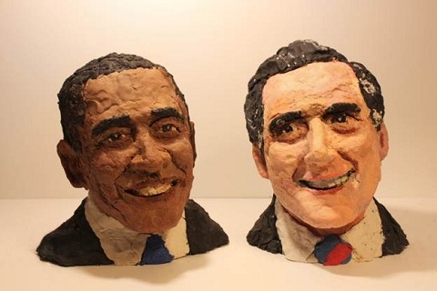 presidential candidates in play-doh