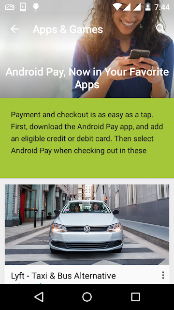 android Tap and Pay feature