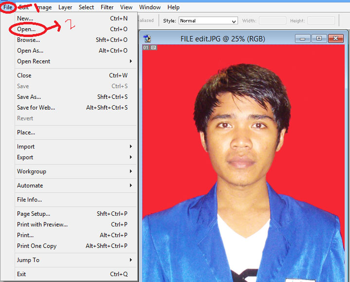 Cara Mengganti Background Pas Menggunakan Shop Blog