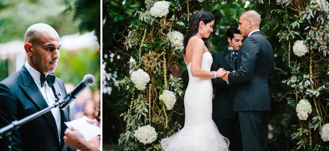 emotional moments during the outdoor wedding ceremony