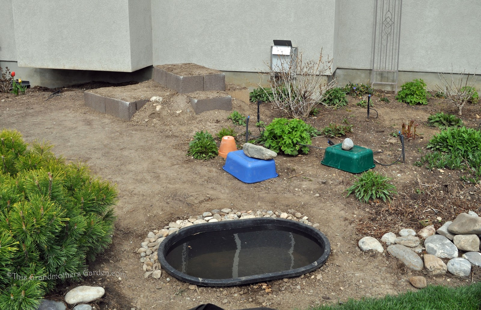 this grandmother u0027s garden building our waterfall part two the