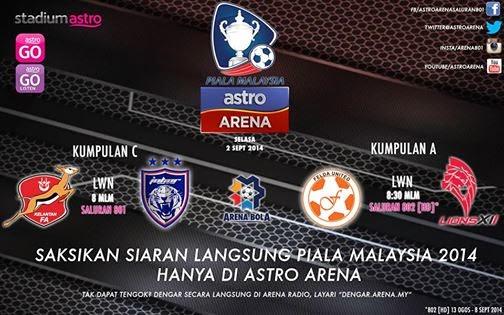 Siaran langsung piala malaysia astro arena 801 802
