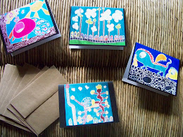 On Sale Now- My Kids' batik art cards