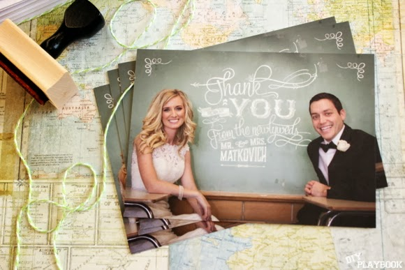 Personalized wedding thank you notes
