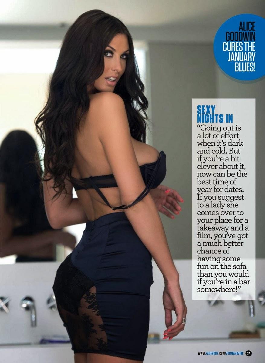 Magazine Photoshoot : Alice Goodwin Hot Photoshot For ZOO Magazine January 2014 Issue
