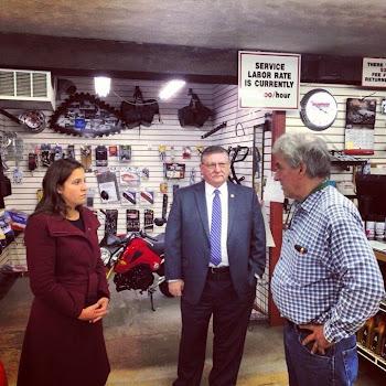 Elise Stefanik and Assemblyman Blankenbush Visit Lowville Sport Shop