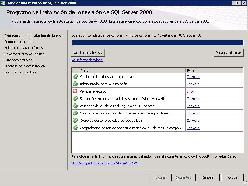 Actualizacion SQL - Reinicio pendiente | Malditos Cacharros