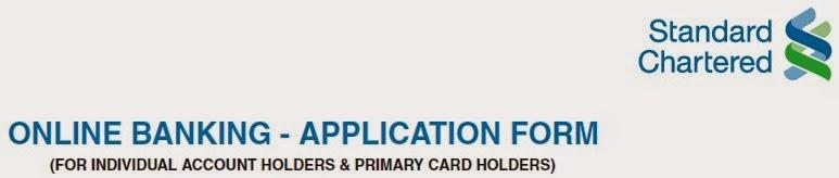 Standard Chartered Online Banking Application Form