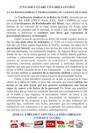 Llamamiento conjunto a participar en la Manifestación Por el Empleo, Contra la Precariedad Laboral