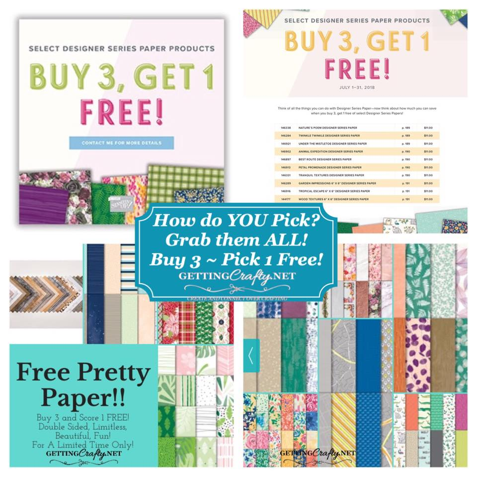 FREE Pretty Designer Series Paper - Unlimited in JULY!