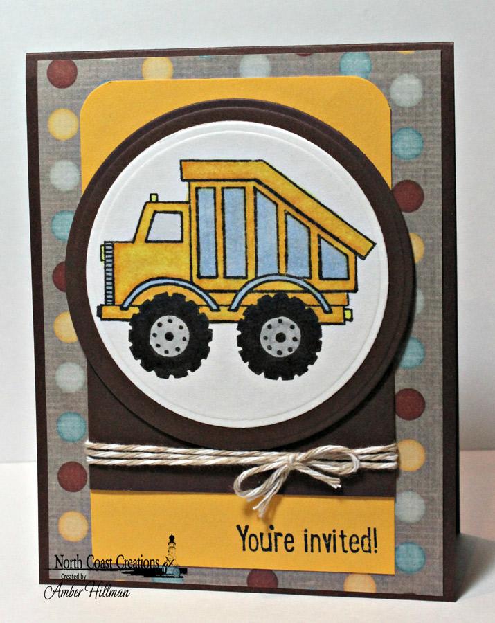 Stamps - North Coast Creations Dump Truck Birthday