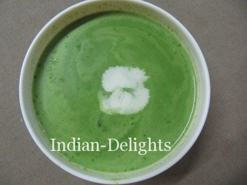 Spinach (Palak) Soup recipe