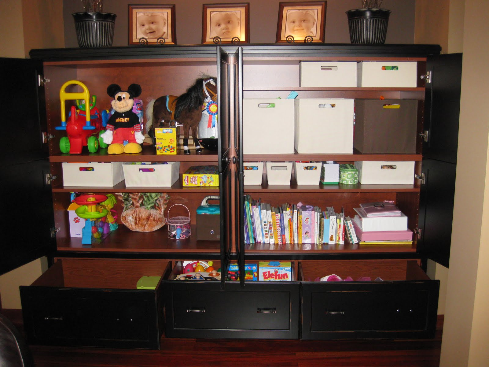 Elegant Thanks To Our Talented Friend Jesse For Building A Beautiful New Cabinet To  Hold Reeseu0027s Toys. We Love It! And Our Family Room Actually Resembles A  Family ...