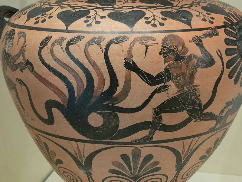 Hercules killing the hundred headed Hydra