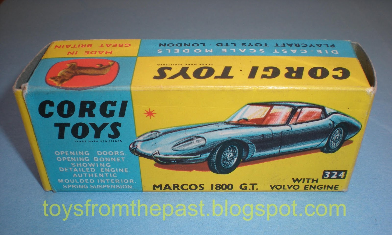 Toys From The Past : Toys from the past corgi marcos volvo gt nr