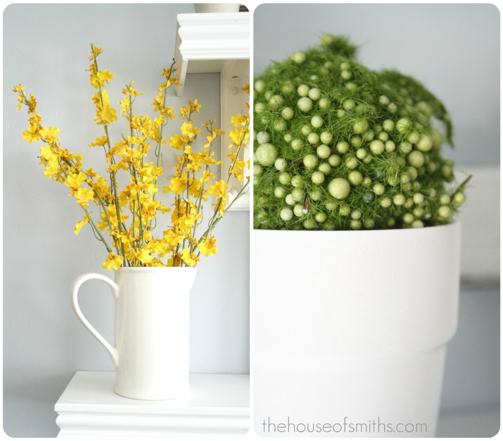 Yellow Flowers And Green Moss