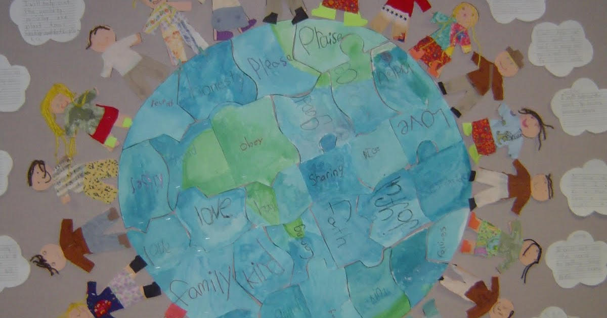 Mrs t 39 s first grade class earth mural for Earthrise mural