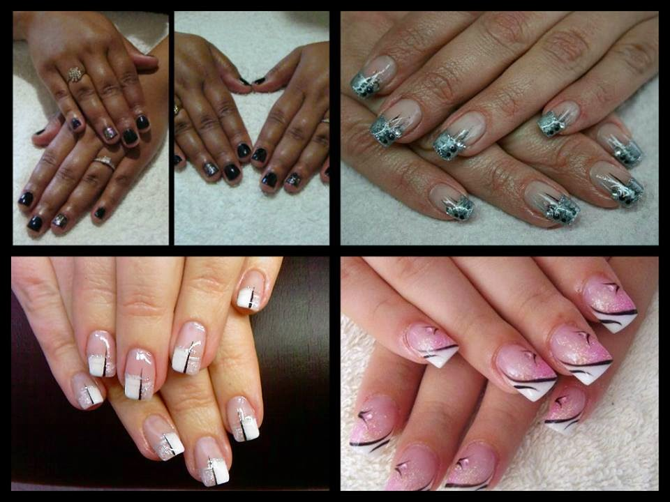 Acrylic-extensions-glitz-LED-Shellac-polish+Shellac-manicure-special-white-pink-green-nail-art
