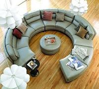 sofá de diseño circular
