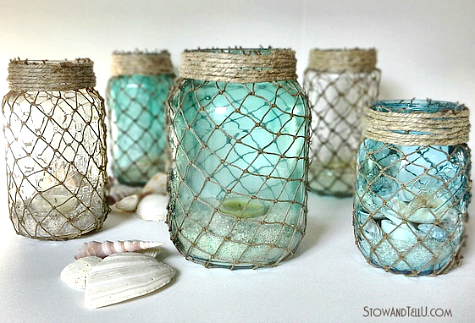 Fish Net Jar