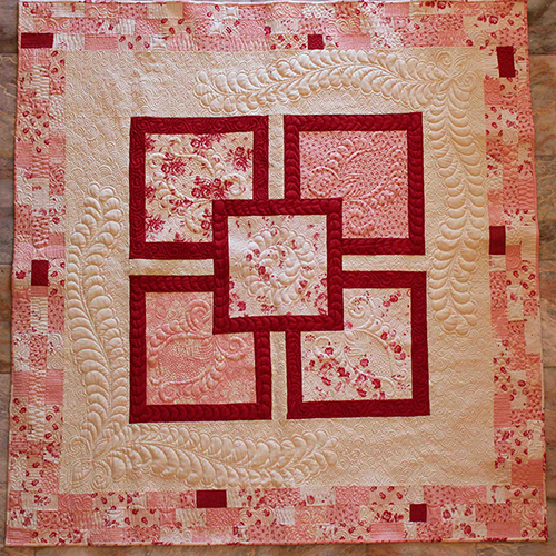 Cabbages and Roses Picnic Quilt