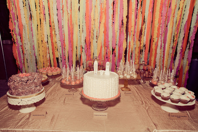 crepe paper streamer backdrop