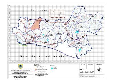 Peta Orientasi Kabupaten Pemalang Dalam Jawa Tengah