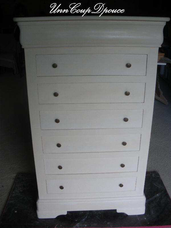 Broc et chiffons relooking de meubles dans les deux s vres - Meuble patine blanc ivoire ...