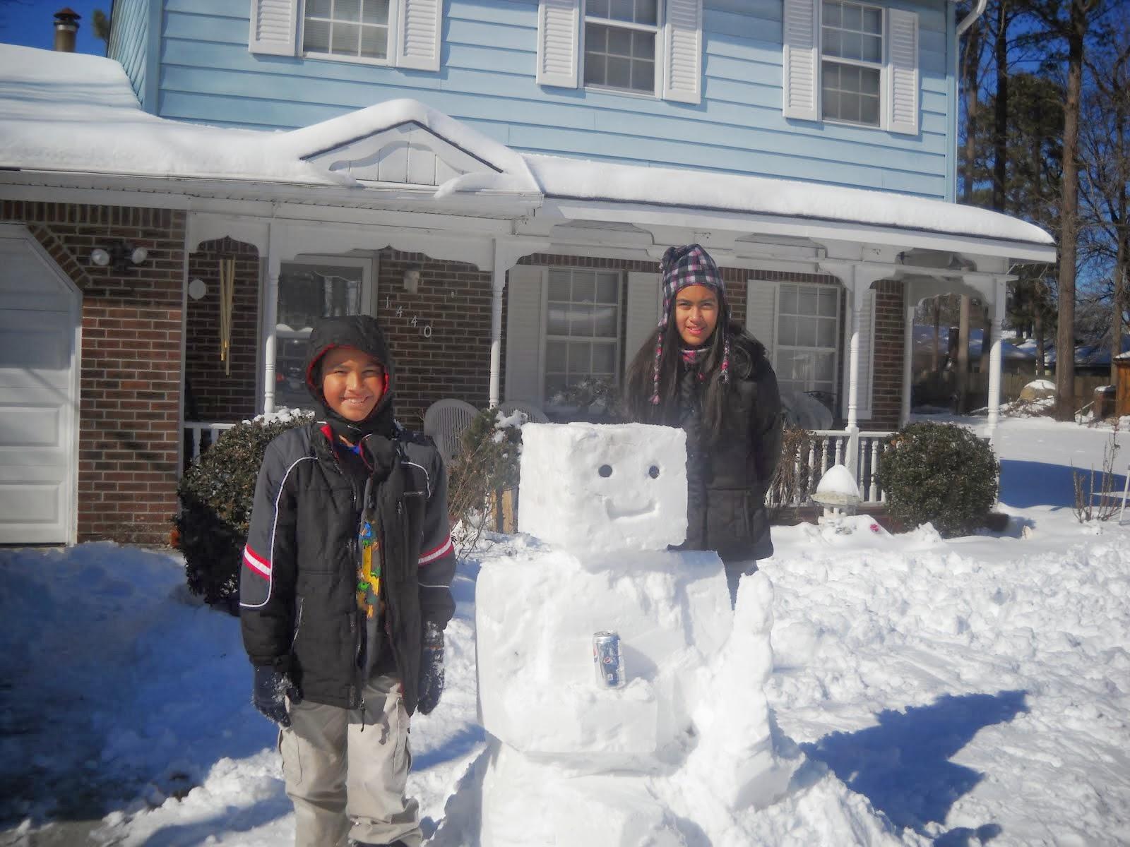 Mine Craft Snow Man