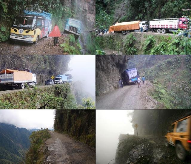 Road Bolivia-Dangerous Road