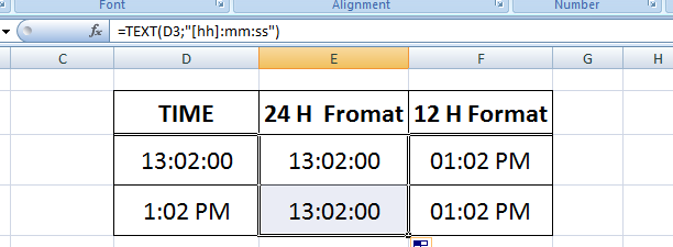 excel time 24 hours format