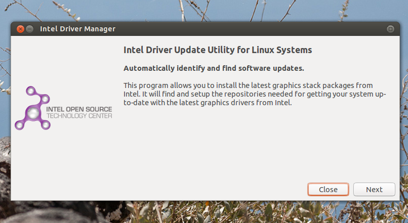 Intel Video Driver Linux