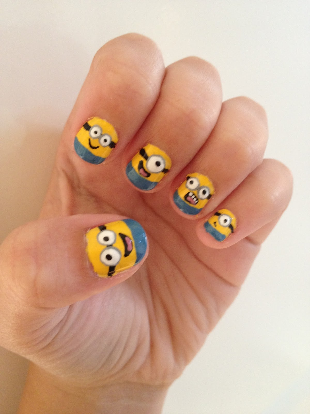 NAILed it.: Despicable Me Minion Nails!