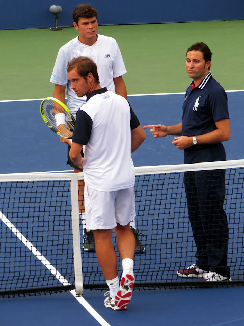 Richard Gasquet Milos Raonic 2013 US Open