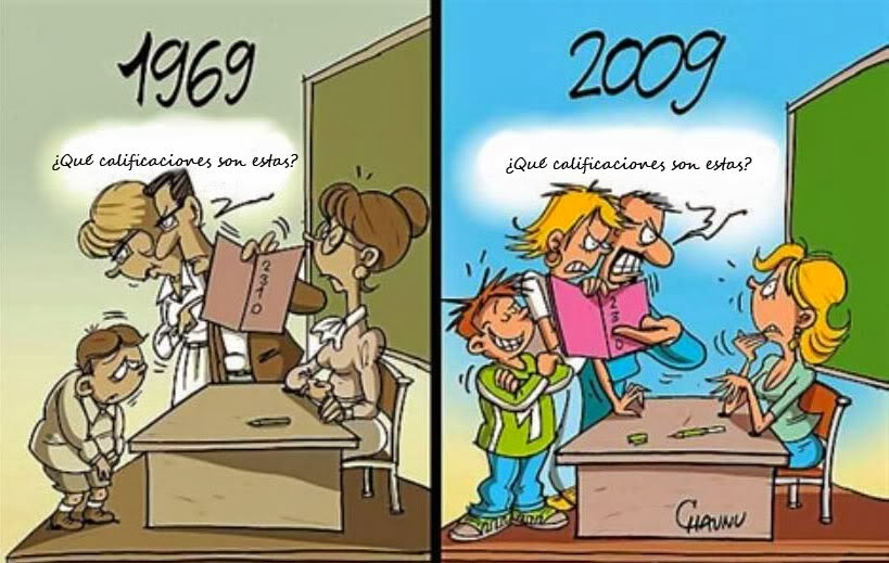 calificaciones antes y ahora