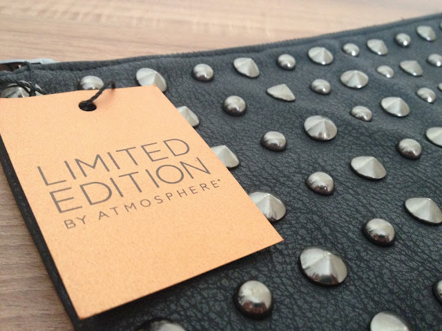 Primark Black Studded Clutch Bag
