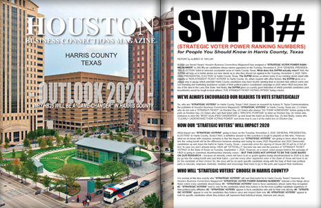 "PAGES 36 AND 37 - HOUSTON BUSINESS CONNECTIONS MAGAZINE© ""STRATEGIC VOTER"" MOBILIZATION PROJECT"
