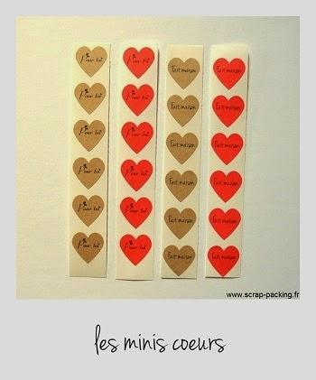 Minis autocollants coeur