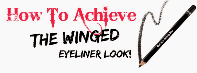 How To achieve the winged eyeliner look by barbie's beauty bits