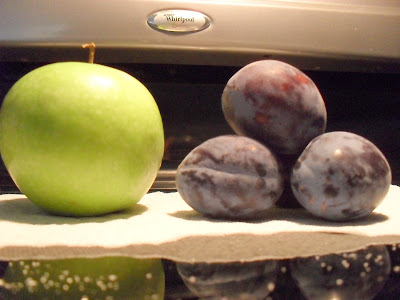 Prune size comparison
