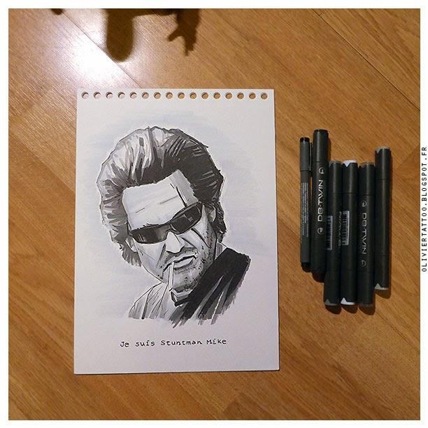 kurt russell drawing dessin jack burton snake plissken stuntman mike olivier poinsignon