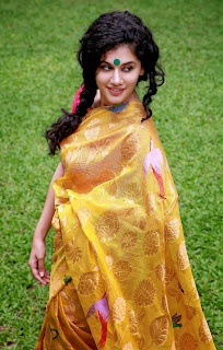 Actress Tapsee Saree Photos