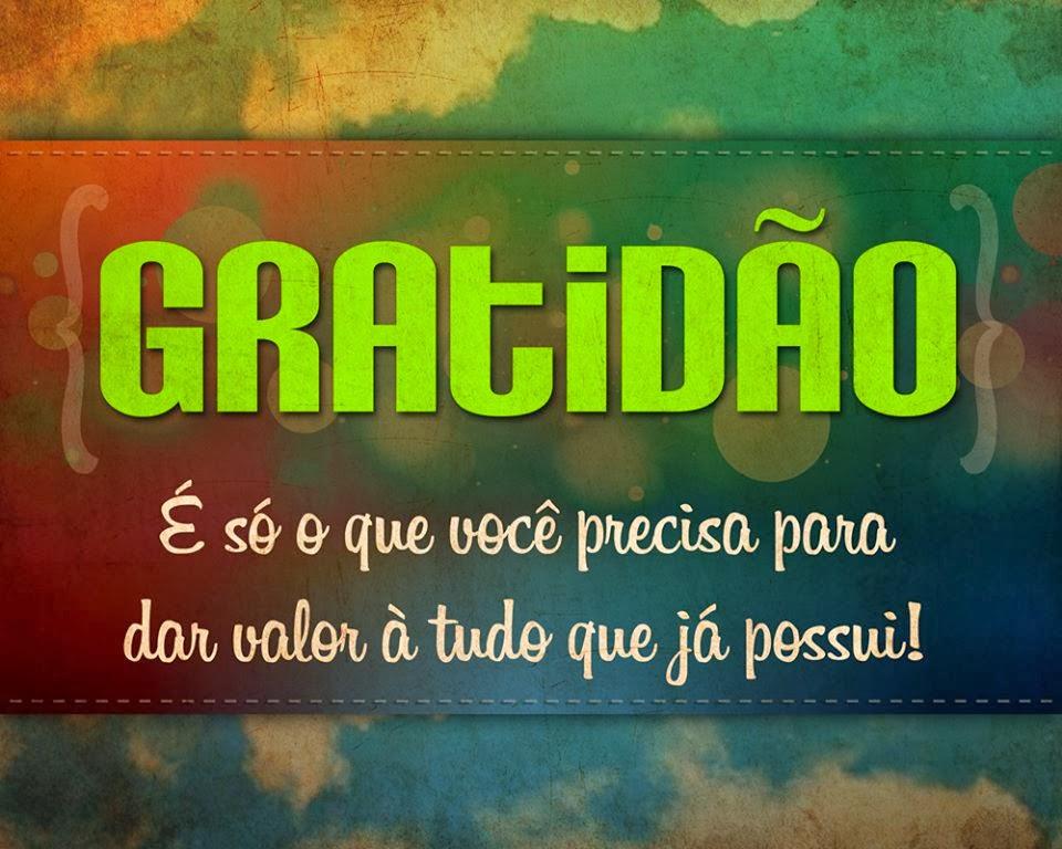 GRATIDÃO!