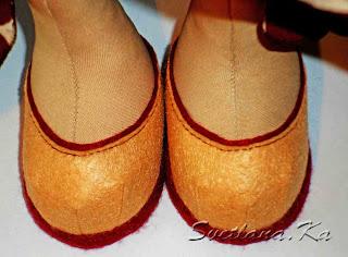 Ботинки из фетра для куклы своими руками