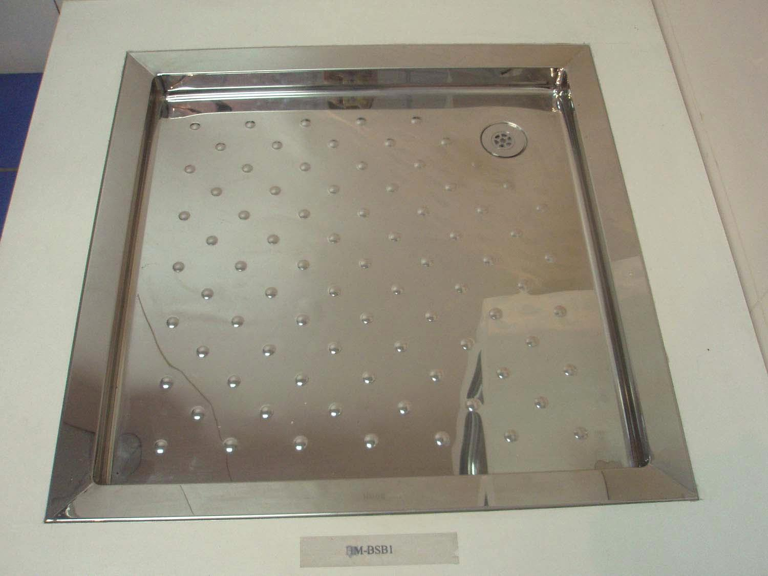 Stainless steel shower trays and metal