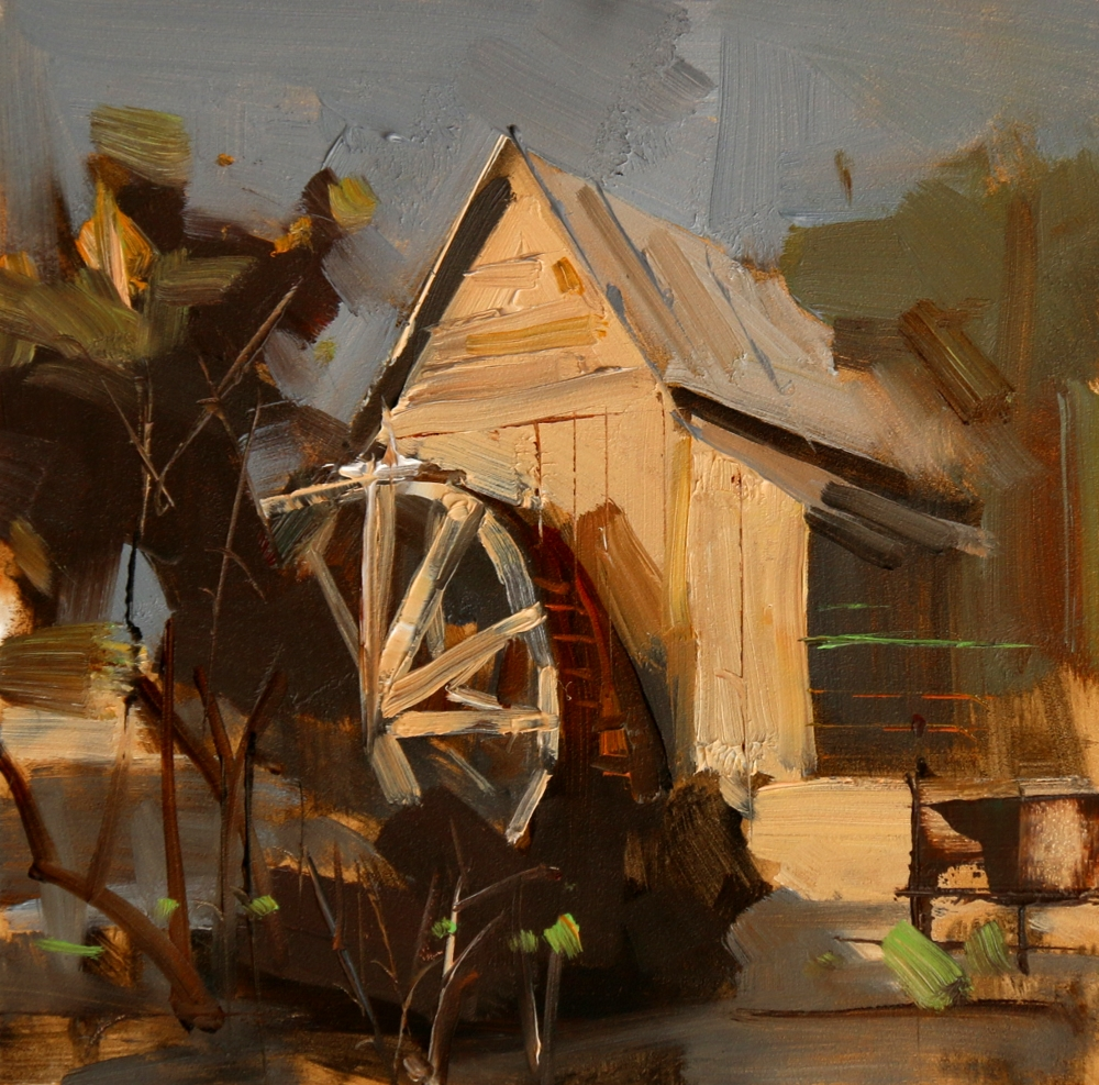Qiang Huang A Daily Painter Anderson Mill Water Wheel