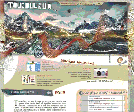 Toucouleur - Website design using drawings and illustration