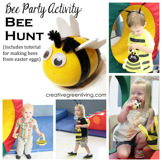 Bee party activity host a bee hunt plus how to make bees from bee party activity host a bee hunt plus how to make bees from easter eggs negle Images