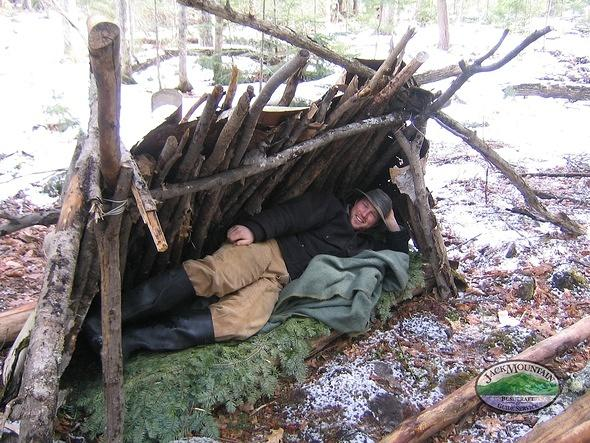Mountain Man Shelters : Life prokott style what is a lean to anyways